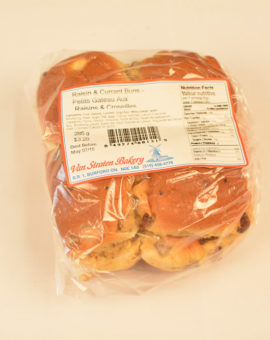 Van Straten Bakery Raisin & Currant Buns (8)
